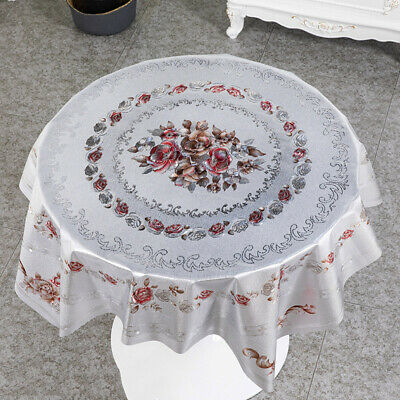 AU23.24 • Buy Tablecloth Table Cover Square PVC Floral Waterproof Oilproof Kitchen Dining