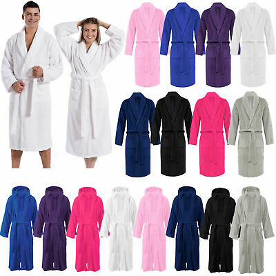 £16.90 • Buy Unisex Shawl Collar Bath Robe Egyptian Cotton Terry Towelling Soft Dressing Gown
