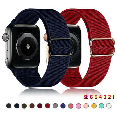 AU4.18 • Buy Solo Loop Nylon Strap For Apple Watch SE 6 5 4 3 2 38 40 42 44mm IWatch Band 1PC