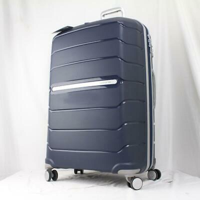 "View Details SAMSONITE FREEFORM 28"" LARGE EXPANDABLE HARDSIDE SPINNER SUITCASE NAVY BLUE • 119.50$"