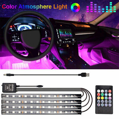 $9.88 • Buy Car RGB 48 LED Light Strip Interior Atmosphere Neon Lamp Remote Control For Cars