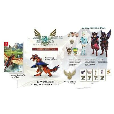 AU257.45 • Buy Monster Hunter Stories 2 Wings Of Ruin Collector's Edition Switch + Ratha Amiibo