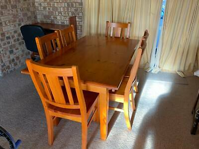 AU60 • Buy Pine Dining Table Set With 6 Chairs