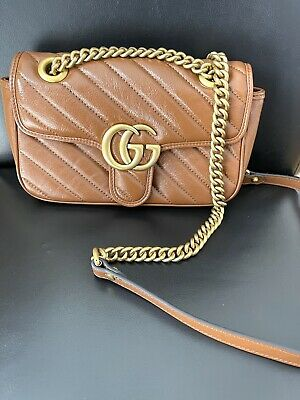 AU1125 • Buy Authentic Gucci GG Marmont Small Matelassé Shoulder Bag