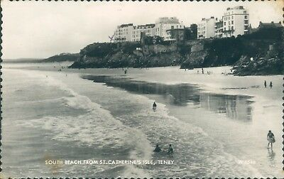£4.20 • Buy Tenby South Beach From St Catherine's Isle Real Photo
