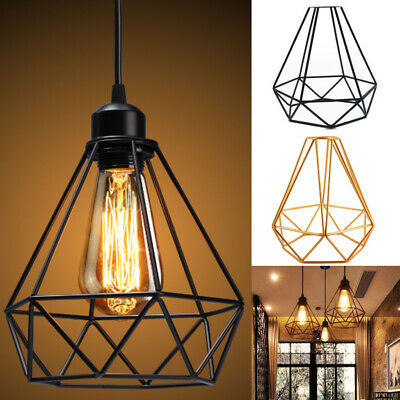 £8.99 • Buy Vintage Metal Cage Industrial Pendant Light Wire Frame Loft Ceiling Lamp Shade