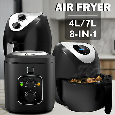 AU69.90 • Buy 4L/6L/7L Electric Air Fryer Electric Deep Healthy Cooker Kitchen Oven  Oil Free