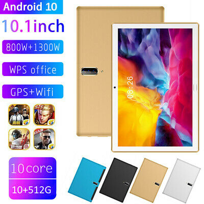 AU120.92 • Buy Dual SIM 10.1  5G Android 10 Tablet PC 10+512G Octa Core Camera Wifi GPS 2021