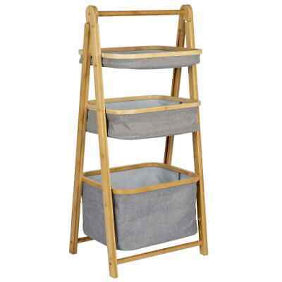 Bo-Camp Folding Cabinet With Baskets Bayswater Bamboo Camping Storage Cupboard • 65.47£