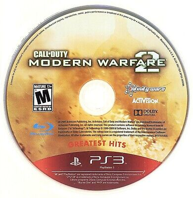 PS3 PlayStation 3 Call Of Duty Modern Warfare 2 Disk Only 2009 • 5.37£
