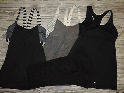 $ CDN24.17 • Buy LOT OF 4 Lululemon Turbo Tank Top, 2 No Limits Tops & Sheer Mesh Side Pant 4
