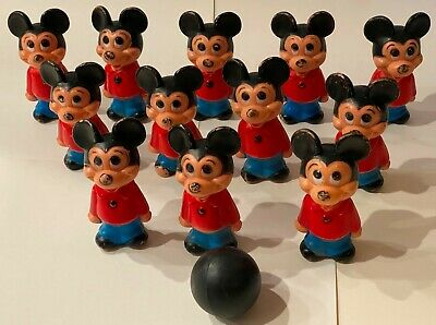 £37.80 • Buy Vintage Hanna Barbera Mickey Mouse Toy Bowling Set With 12 Mickey  Pins  & Ball