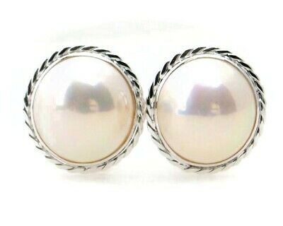$426 • Buy Mabe Pearl Earrings / Earrings Approximately 13mm White Gold