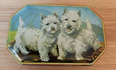 Vintage Retro Tin - Welch's Quality Sweets - Scottie Dog • 6.25£