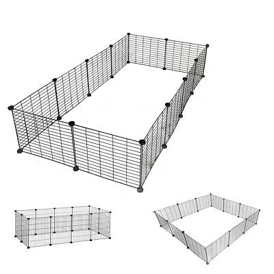 £27.98 • Buy Pet Exercise PlayPen 12 Panels DIY Enclosure Fence Cage Small Animals Run UKDC