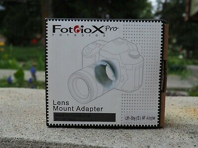 AU126.40 • Buy FOTODIOX Pro Pronto Auto Focus Adapter For Leica M Lens To Sony E Mount A7 R II