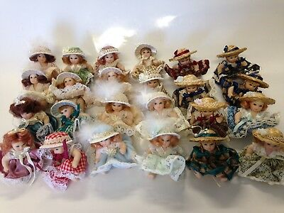 $ CDN29.04 • Buy 24 Miniature Porcelain Dolls. 2  Inch Regency Anne Belles Vintage-style Lot