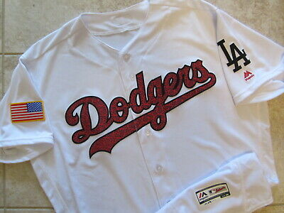 $99 • Buy WOW! Authentic L.A. Dodgers Majestic Flex Base MLB 4th Of July Jersey Blank 48
