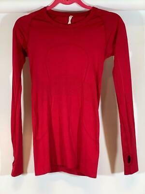 $ CDN30.22 • Buy LULULEMON RUN: SWIFTLY TECH LS Crew Neck Red Top Size 4
