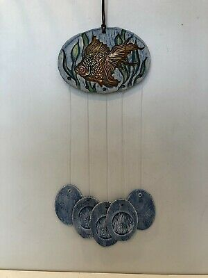 £56.63 • Buy Vintage Chime Tree Hand-Crafted Porcelain & Stoneware Wind Chime Bell, 24  Tall