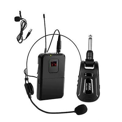 £38.76 • Buy UHF Wireless Microphone System,  With Headset Mic/Lavalier Cordless Mic Set