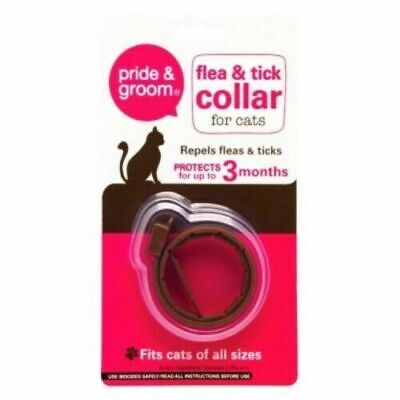 £3.32 • Buy Cat Flea & Tick Collar Flee Lasts 3 Months Protection Stretch Fits All Size Cats