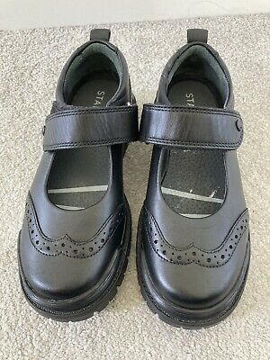 £14.99 • Buy Startrite Black Leather Girls Shoes, Size 11E, Worn Once