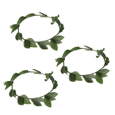 £4.99 • Buy 3pack Green Leaves Wreath Headpiece Hairband Toga Party Princess Accessories