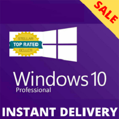 $ CDN3.96 • Buy ⭐✔️instant WindowsⓇ10 Pro ⭐ Key 32/64 Bit⭐lifetime Activation Genuine⭐ Online Ok