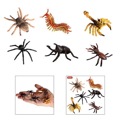 £3.33 • Buy 6pieces Insects Figures Toys Science Halloween Party School Project For Kids