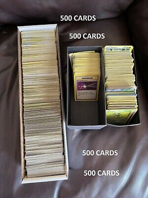 $40 • Buy Pokemon 500 Card Bulk Lot Common Uncommon Vintage And Older Mixed No Energy