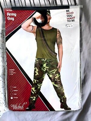 £13.99 • Buy Army Guy Soldier Military Sergeant Marine Adults Mens Fancy Dress Costume Outfit
