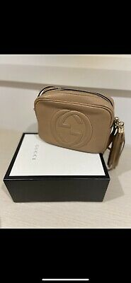 AU1200 • Buy Gucci Soho Small Disco Bag Rose Beige