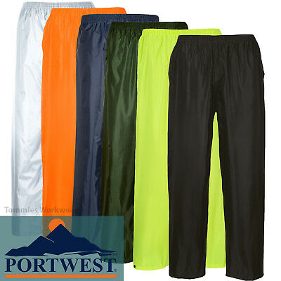 £8.79 • Buy Portwest Waterproof Trousers Lightweight Rain Pants Over Trousers Overtrousers