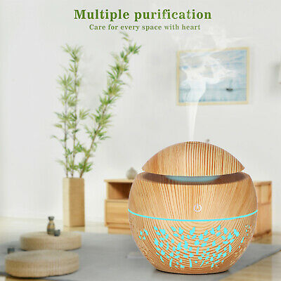AU22.99 • Buy Home Aromatherapy LED USB Diffuser Aroma Essential Oil Air Humidifier Wood Grain