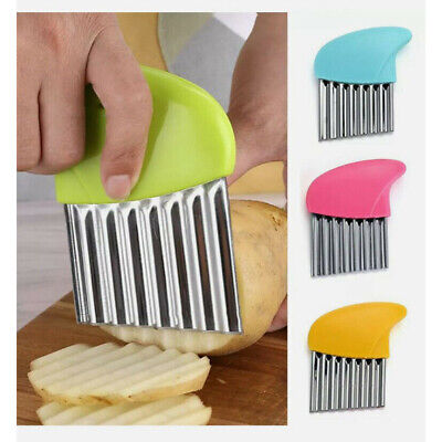 £2.59 • Buy Stainless Steel Potato Cutter Chip Salad Vegetable Crinkle Wavy Cutter Tool H