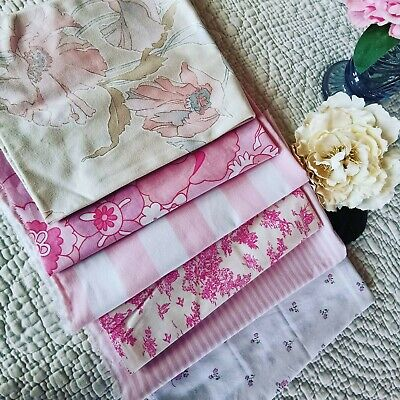 £20 • Buy Vintage  Curtain Remnants Reclaimed Fabric Sanderson  Rose Sewing Mixed Pk 89