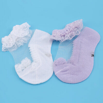£2.49 • Buy Gift Baby Girl's Socks Solid Color Flower Cute Comfortable Lace Ankle Socks J