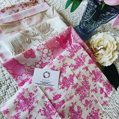 £24 • Buy Vintage  Curtain Remnants Reclaimed Fabric Sanderson  Rose Sewing Mixed Pk 92