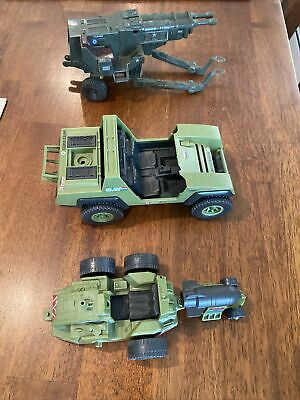 $ CDN11.49 • Buy Vintage GI Joe Hasbro Vehicle Lot Of 3 Whirlwind Gun Jeep Weapon Transport