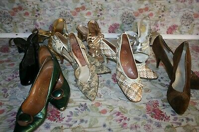 AU32.64 • Buy Job Lot Of Vintage 40s/ 50s/ 60s Shoes- Mix Of Sizes, Bundle Of 8 Pairs