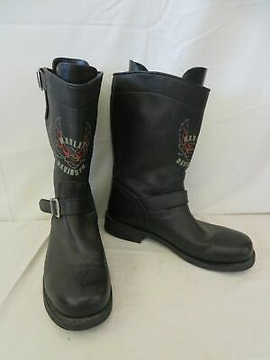 $ CDN90.68 • Buy Men's Harley-Davidson Black Blazon Eagle Leather Motorcycle Boots Size 13