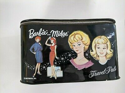 $ CDN24.17 • Buy Vintage Barbie Midge Rectangle Travel Pals Case Black - 1963