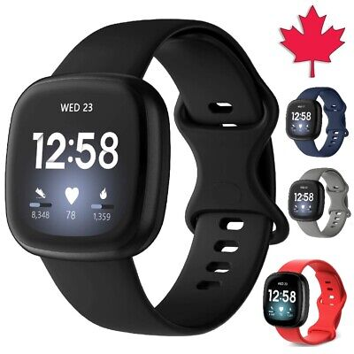 $ CDN5.95 • Buy For Fitbit Versa 3 / Sense Band Replacement Silicone Wristband Strap Wrist Sport