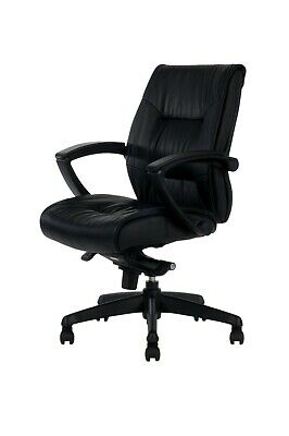 AU199.99 • Buy Premium Office Chair Black Leather With Lift Mechanism, Arms And 5 Star Base.