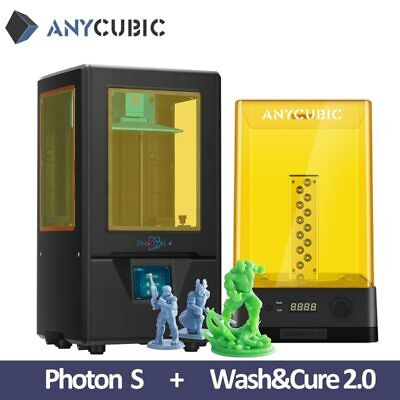ANYCUBIC SLA Photon S 3D Printer UV Matrix Light Cure Dual Z-axis +Wash & Cure 2 • 318£