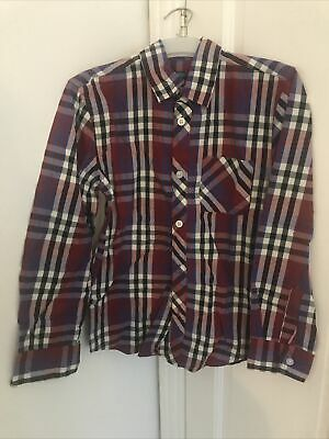Debenhams Blue Zoo Boys Blue And Red Checked Shirt Age 10 Years • 2£