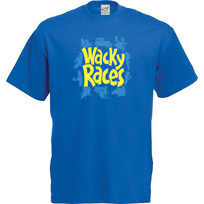 £3.95 • Buy Wacky Races T-Shirt And Keyring Giftset Blue - COOL GIFT IDEA FOR HIM OR HER