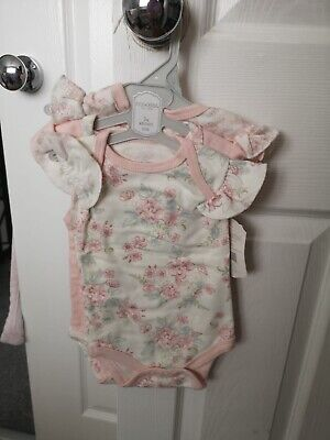 £5.20 • Buy Kyle And Deena 0-3m 3 Pack Girl Body Suits BNWT