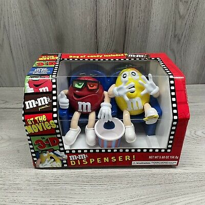 $17.50 • Buy M&M's At The Movies In 3-D Limited Edition Candy Dispenser Yellow Red In The Box